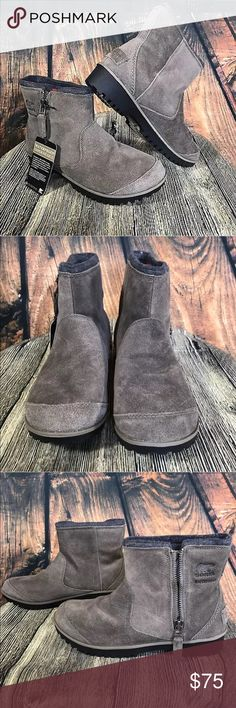 NEW Sorel Meadow Zip Suede Boots Great boots by Sorel  Meadow Zip  Mud gray  Size 8.5  NEW without box Sorel Shoes Winter & Rain Boots