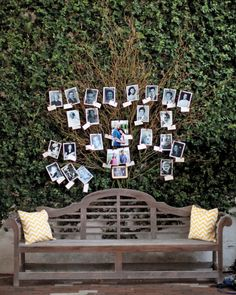 Abigail and Michael's nuptials in Wilmington, North Carolina, were all about family. Using Polaroids and tags, the two hung old photographs of relatives to create a real-life ancestral tree, remembering those who came before them, including mothers, grandmothers, and great-grandmothers.
