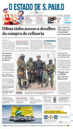 Capa de hoje: Dilma tinha acesso a detalhes da compra de refinaria pela Petrobrás http://oesta.do/1lSkK6l
