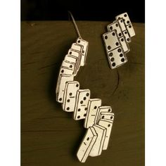 Domino , earrings Silver Earrings, Silver Jewelry, Drop Earrings, Domino Jewelry, The Hanged Man, Gamer Gifts, Earrings Handmade, Dog Tag Necklace, Gifts For Her
