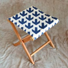How About Orange: How to make a folding camp stool Cute. Not hard to make. I wish I would've been smart enough to think of staining Before I put it together