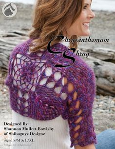 The Chrysanthemum Shrug features the simplicity and elegance of a shrug built on one central motif. Made in a luscious mohair blend yarn, this one-skein project offers instant gratification with easy instructions and no-sew construction. Start one today and you could be wearing this FAB creation tomorrow!