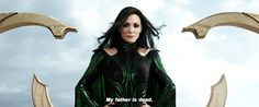 I am Hela, Odin's first born Commander of the legions of Asgard....
