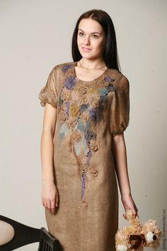 """Купить валяное платье """" Ностальгия"""" - авторское платье, платье, платье коктейльное, вечернее платье"""