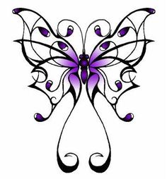 tribal butterfly tattoo-- One of the tattoos i want..