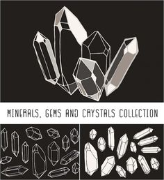 Description: Set of 3 hand drawn illustrations with crystals and minerals. Perfect for illustrating bohemian jewellery brands, natural history books, and esoteric literature. Free for download. File format: .ai, .svg for Photoshop or other software. File size: 2 Mb.
