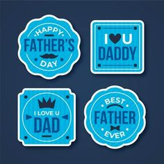 Happy Fathers Day Greetings, Father's Day Greetings, Daddy Day, Nautical Party, Loving U, Party Printables, Happy Fathers Day, Greeting Card, Badges