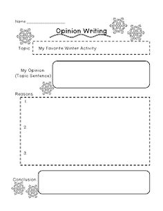 Title opinion essay graphic organizer