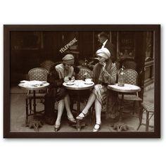Art.com ''Cafe et Cigarette Paris, 1925'' Framed Art Print, Soho... ($160) ❤ liked on Polyvore featuring home, home decor, wall art, backgrounds, soho espresso, paris home decor, wood home decor, wood wall art, horizontal wall art and wooden home decor