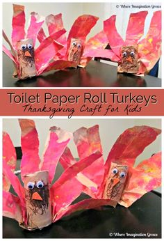 Turkey craft for kids using toilet paper rolls and paper bags! A simple Thanksgiving or fall themed craft to do with toddlers or preschoolers this November! Recycle cardboard toilet paper and old paper bags for this easy art project! #artforkids #Thanksgiving #craftsforkids #preschoolart #preschoolcrafts #toiletpaperroll