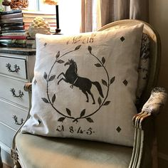 Number 16 Equestrian French Country Grain Sack by AtelierBe