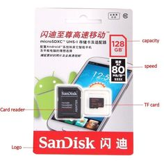 SanDisk micro sd 128GB 64GB 32GB 16GB 80mb/s | memory card class10 Original