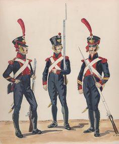 l'Armée de joachim Murat, Roi de Naples Bataillon d'élite des légions provinciales 1814 Sergent de grenadiers légion gouvernement de Naples Grenadier et caporal de grenadiers légion