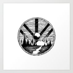 Viking shield Art Print by Linn Setane. Worldwide shipping available at Society6.com. Just one of millions of high quality products available.