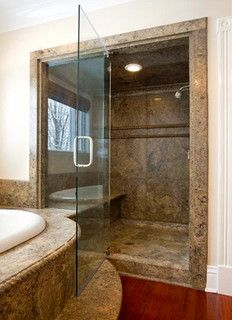 Photo Album For Website Bathroom shower with window Don ut like the stone color but the window covering idea might work for our bathroom shower window