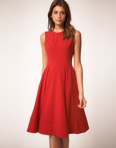 e39f2c61cebf56 Asos Midi Dress With Full Skirt - ShopStyle Day