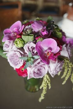 Events in Bloom is a premier event design studio offering floral decor and full service event design. Tropical Wedding Bouquets, Bridal Bouquets, Purple Wedding, Succulent Bouquet, Event Design, Orchids, Succulents, Floral Design, Bloom