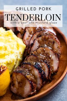 Grilled Pork Tenderloin is a weeknight dinner staple. The beer and mustard marinade becomes a delicious glaze for the grilled pork tenderloin.