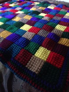 Detail Work of Bobbie creative multiple colored blanket for Holiday Season