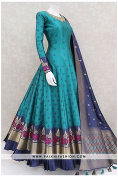 Indian Gowns Dresses, Indian Fashion Dresses, Dress Indian Style, Pakistani Dresses, Indian Outfits, Simple Frock Design, Long Dress Design, Stylish Dresses For Girls, Stylish Dress Designs