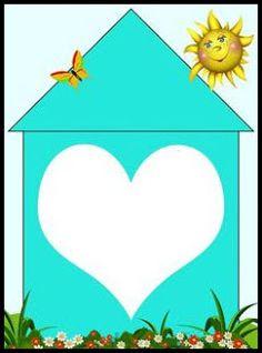 home shapes matching heart Gross Motor Activities, Preschool Learning Activities, Baby Learning, Preschool Classroom, Classroom Themes, Kindergarten Mat, English Classroom Decor, Binder Cover Templates, Teaching Shapes