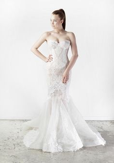 Fish Tail lace Wedding Dress
