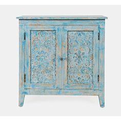 Kelly Clarkson Home Bell 2 Door Accent Cabinet Shabby Chic Furniture, Painted Furniture, Living Room Furniture, Turquoise Furniture, Distressed Furniture, Repurposed Furniture, Custom Furniture, Jerome Furniture, Accent Chest