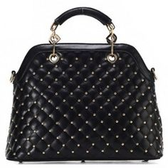 Elegant Women s Tote Bag With Checked and Rivets Design black white (Elegant Women s Tote Bag With Checked and Rivets) by http://www.irockbags.com/elegant-womens-tote-bag-with-checked-and-rivets-design-black-white