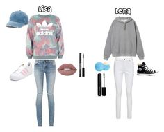 """Lisa and Lena °6"" by tery-horska ❤ liked on Polyvore featuring adidas, Yves Saint Laurent, Mudd, Joe Browns, Converse, Eos and Marc Jacobs"
