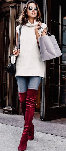 Red Suede O T K B Fall Streestyle Inspo by Vivaluxury