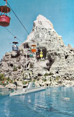 Disneyland back in the day. Notice the Submarine - was a neat ride
