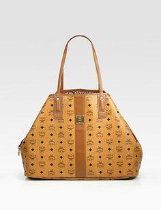 My MCM Liz Reversible Canvas & Leather Shopper Bag!!!! I ❤️ It!!!