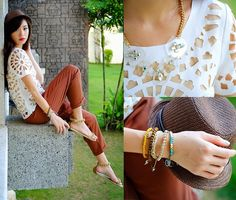 Wagw Top, Bella Schu Sandals, House Of Luxe Necklace, Edge Co Bracelets - Hanging with Exclusives - Kryz Uy