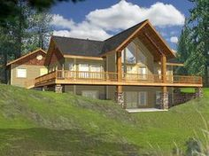 Lake House Plan Front of Home for Home Plan also known as the Golden Lake Rustic A-Frame Home from House Plans and More. Rustic House Plans, Lake House Plans, Basement House Plans, Mountain House Plans, House Plans And More, Walkout Basement, Mountain Houses, Rustic Lake Houses, Mountain Cabins