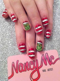 Grinch nails - Christmas Nail Art