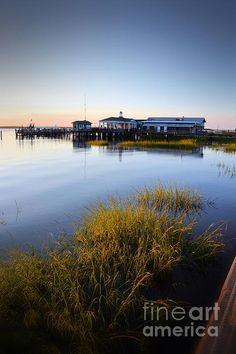Jekyll Dock At Sunset - @latitude31 - Photograph by Katherine W Morse