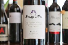 The Reverse Wine Snob: Menage a Trois Malbec 2012 - Simply Tasty. A great wine to pair with a cheeseburger. http://www.reversewinesnob.com/2014/07/menage-trois-malbec.html #wine #winelover