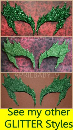 Poison Ivy Leaves Eyebrow Eye mask EMERALD GLITTER by Montyfam6