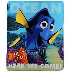 Finding Dory Ocean Here We Come Fleece Throw Blanket >>> More info could be found at the image url.