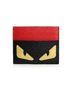 Fendi Monster Credit Card Case - Black