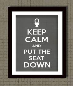 Bathroom Wall Decor Keep Calm Print Bathroom Rules by Woofworld