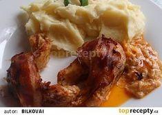 Zapečená štika na smetaně - výborná! recept - TopRecepty.cz Korn, Chicken Wings, Mashed Potatoes, Meat, Ethnic Recipes, Fitness, Whipped Potatoes, Gymnastics, Mashed Potato Resep