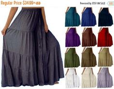 20% OFF Pre-FALL SALE S222 Gauchos Ruffled by LotusTradersClothing