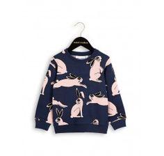 Mini Rodini Rabbit sweatshirt Dark Blue