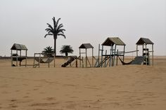 Play park in the Namibia Desert