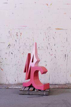 2010 117 x 70 x 26 cm Abstract Sculpture, Sculpture Art, Sculptures, Op Art, Kids Pop, Color Of Life, Medium Art, Pink Roses, Pretty In Pink