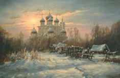 Winter. Dmitrov. Landscape painting by Russian artist Stepan Nesterchuk