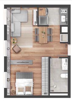 Single bedroom floor plan with furniture layout Single bed. Single bedroom floor plan with furniture layout Single bed. Small Apartment Plans, Small Apartment Layout, Studio Apartment Floor Plans, Studio Floor Plans, Studio Apartment Layout, Bedroom Floor Plans, Small Apartments, House Floor Plans, Studio Apt