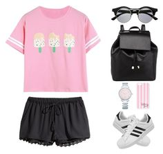 """""""Untitled #1224"""" by i-am-leia ❤ liked on Polyvore featuring H&M, Barneys New York, Tiffany & Co., Victoria's Secret and adidas"""