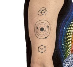 Symbolism Temporary Tattoo Pack  Cover yourself with the symbolic power embedded within the geometry of the Cosmos.  21 temporary tattoos, easy to apply, safe, Made in the USA